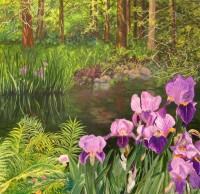 POND.Acrylic on Canvas.Dockrill,Leah.36×36