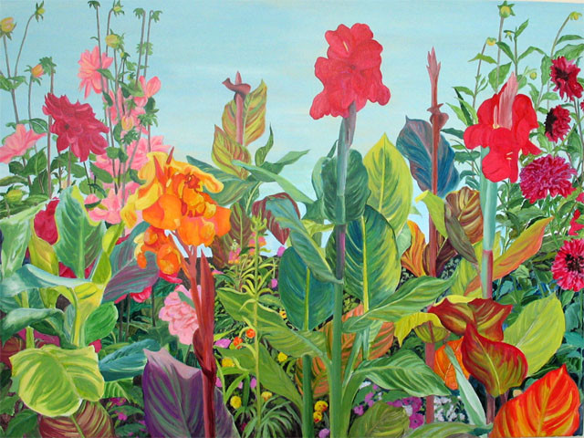 Summer Symphony.Acrylic. 36 x 48.