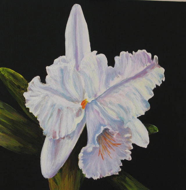 White Orchid 2.Acrylic.16×16.
