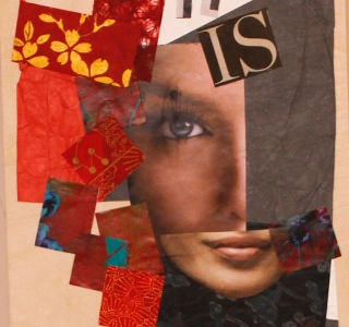 It Is. Collage with magazine pages and fine art papers. 10 in x 8 in