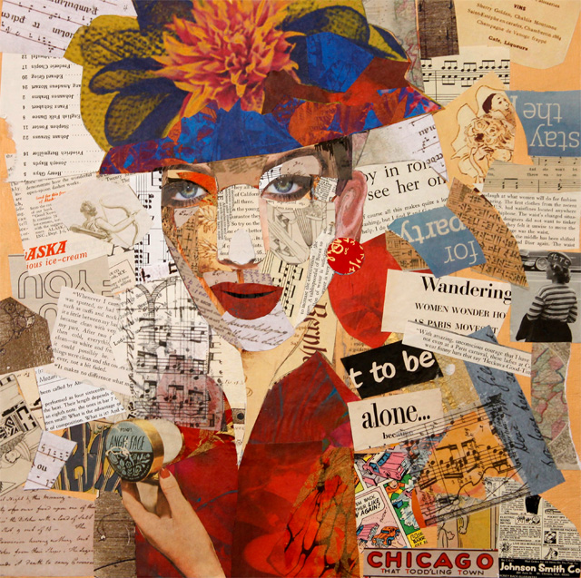 The lady Dalet.Collage portrait